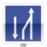 Panneau d'indication de fin d'un créneau de dépassement
