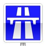 Panneau d'indication de début d'une section d'autoroute