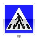 Panneau d'indication de passage pour piétons