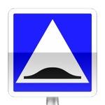 Panneau d'indication de surélévation de chaussée