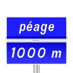 Panneau d'indication de pré-signalisation du paiement du péage