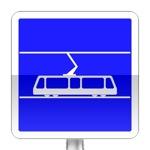 Panneau d'indication d'arrêt de tramways