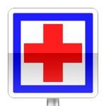 Panneau d'indication de poste de secours