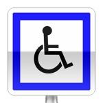 Panneau d'indication d'installation accessibles aux personnes handicapées à mobilité réduite