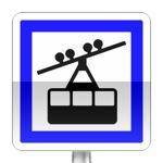 Panneau d'indication d'une gare de télephérique