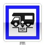 Panneau d'indication de station de vidange pour caravanes, auto-caravanes et cars