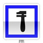 Panneau d'indication d'un poste de dépannage