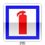 Panneau d'indication de moyen de lutte contre l'incendie