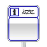 Panneau d'indication d'information service faisant partie du relais d'information service