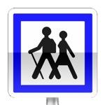 Panneau d'indication de point départ d'un itinéraire pédestre