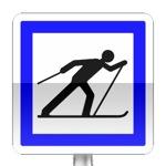 Panneau d'indication de point de départ d'un circuit de ski de fond