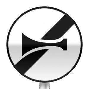Panneau de fin d'interdiction d'utiliser les avertisseurs sonores