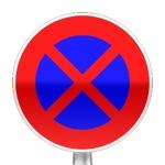 Panneau d'interdiction de s'arrêter et de stationner