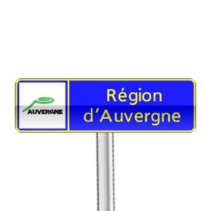 Panneaux de localisation d'une région administrative ou d'un département