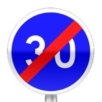 Panneau de fin de vitesse minimale obligatoire
