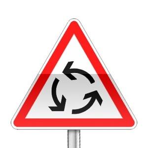 Panneau de priorité, carrefour à sens giratoire