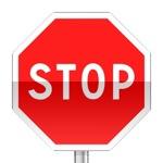 Panneau de priorité, signal de position, arrêt à l'intersection