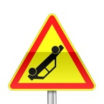 Panneau signalisation temporaire, accident