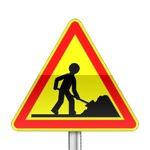 Panneau signalisation temporaire, travaux