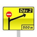 Panneau signalisation temporaire, pré-signalisation de déviation