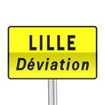 Panneau signalisation temporaire, confirmation de déviation