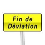 Panneau signalisation temporaire, fin de déviation