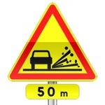 Panonceau associés aux panneau de signalisation temporaire de danger AK