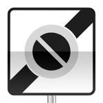 Panneau prescription zone, sortie d'une zone à stationnement interdit