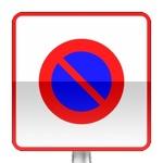 Panneau prescription zone, entrée d'une zone à stationnement interdit