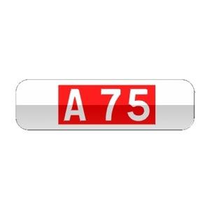 Panonceau indiquant le numéro d'une route ou d'une autoroute