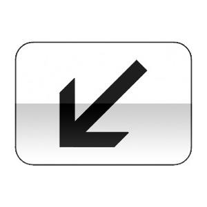 Panonceau indiquant la position de la voie concernée par le panneau qu'il complète