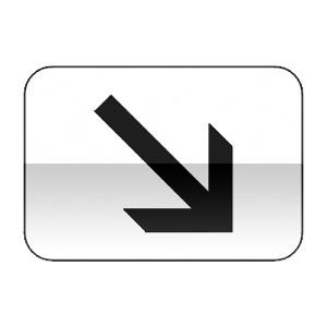 Panonceau indiquant a position de la voie concernée par le panneau qu'il complète