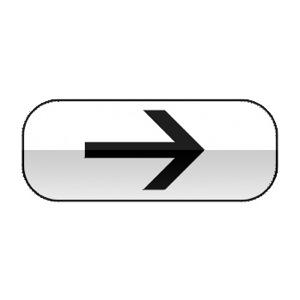 Panonceau indiquant a direction à suivre, et éventuellement sur quelle distance, pour rencontrer le service indiqué par le panneau