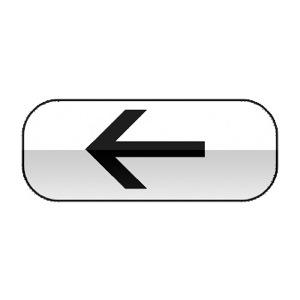 Panonceau indiquant la direction à suivre, et éventuellement sur quelle distance, pour rencontrer le service indiqué par le panneau