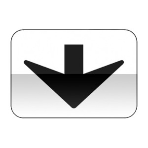 Panonceau indiquant que le panneau qu'il complète se rapporte à la voie au dessus de laquelle il est implanté