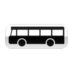 Panonceau, désigne les véhicules de transport en commun de personnes