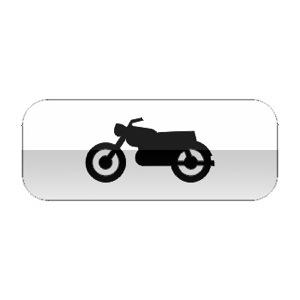 Panonceau désignant les motocyclettes et motocyclettes légères, au sens de l'article R.311-1 du code de la route
