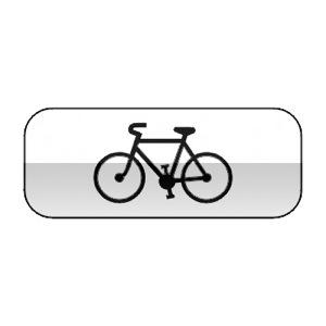 Panonceau désignant les cycles