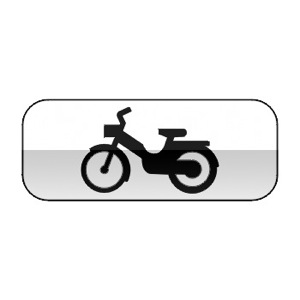 Panonceau désignant les cyclomoteurs