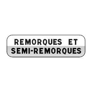 Panonceau désignant les usagers concernés par l'inscription qu'il porte