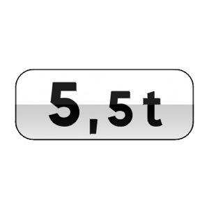 Panonceau désignant les véhicules, véhicules articulés, trains doubles ou ensembles de véhicules dont le poids total autorisé en charge ou le poids total roulant autorisé excède le nombre indiqué.