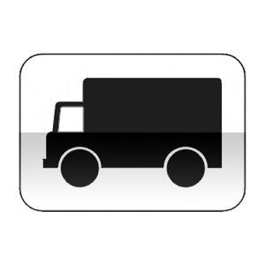 Panonceau désignant les véhicules affectés au transport de marchandises