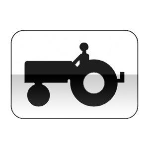 Panonceau désignant les véhicules agricoles à moteur