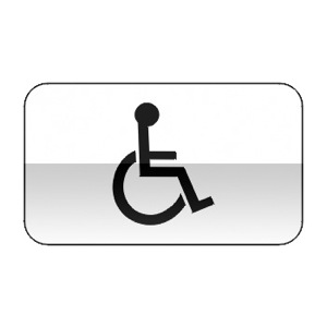 Panonceau désignant les installations aménagés pour handicapés physiques