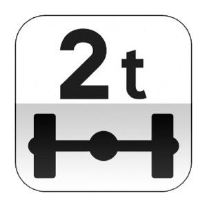 Panonceau désignant les véhicules pesant sur un essieu plus que le nombre indiqué