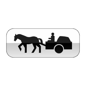 Panonceau désignant les véhicules à traction animale