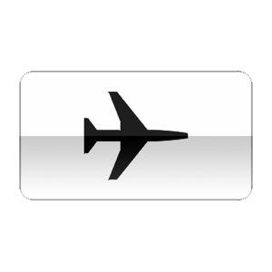 Panonceau indiquant que le panneau auquel il est associé concerne une aire de danger aérien.