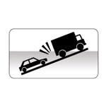 Panonceau indiquant un risque de heurt avec un véhicule lent en montée