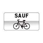 Panonceau excluant les cyclistes