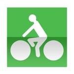 Symbole de direction conseillée aux cycles